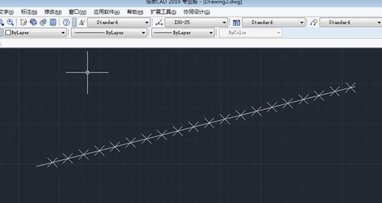 CAD测量点定距等分