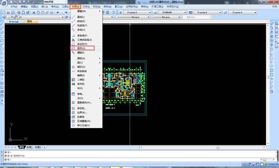 CAD软件中如何绘制矩形