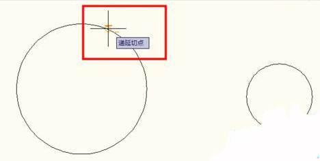 CAD两圆切线公切线绘制