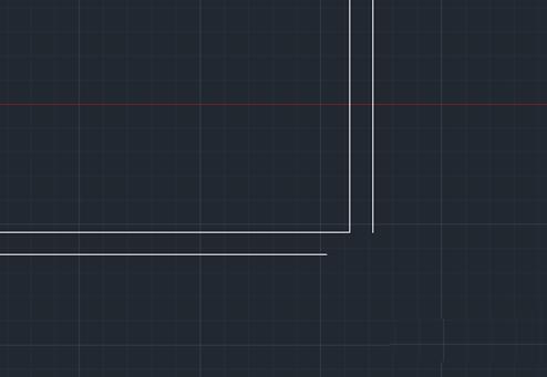 CAD断线连接直线不相交