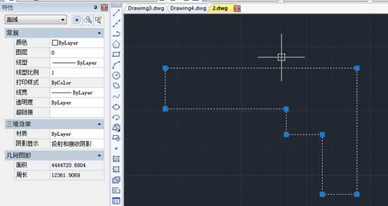 CAD创建面域操作步骤