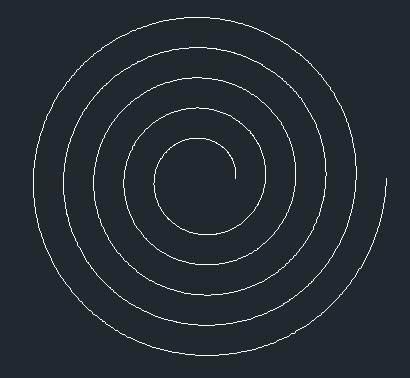 CAD中如何绘制螺旋渐开线