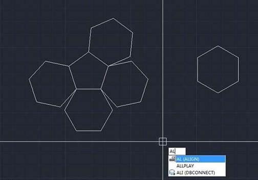 CAD对齐六边形操作方法