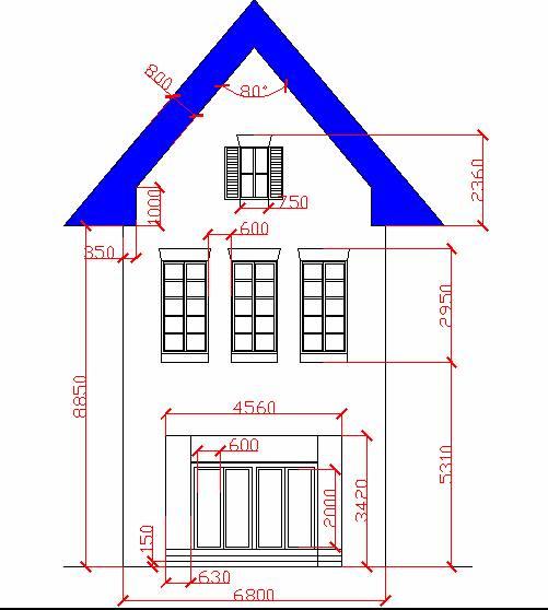 CAD 建筑画图练习题