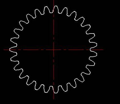 CAD中如何绘制齿轮曲线