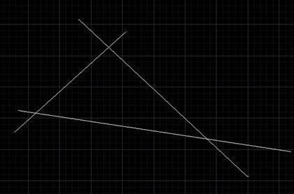 CAD两直线相交的方式