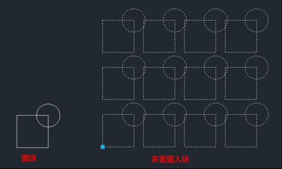 CAD多重插入块的创建方式