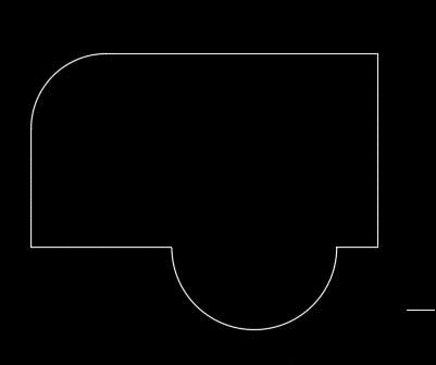 CAD创建圆形或者带圆弧区域的方式