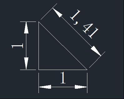 CAD画带根号直线的方式