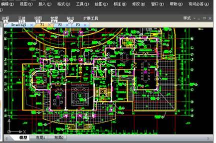 使用浩辰CAD设计别墅