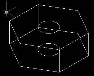 CAD中如何使用拉伸命令绘制螺母
