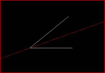 CAD中角平分线绘制方法