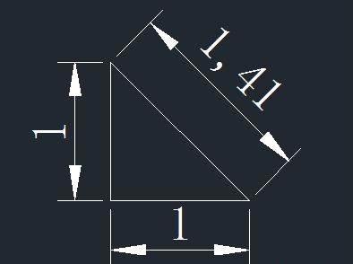 CAD绘制直线根号长度设置