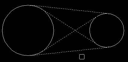 快速绘制两圆公切线的教程