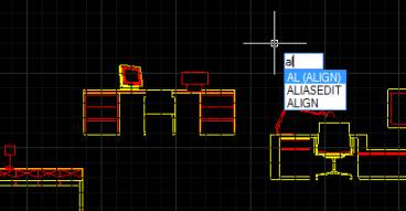 CAD对齐命令的应用
