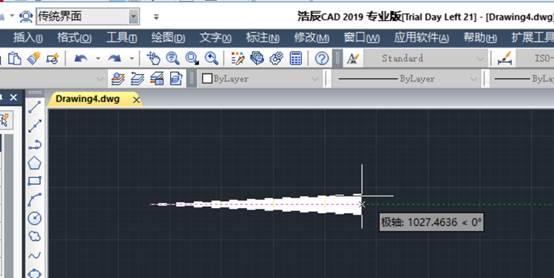 CAD多段线实现绘制带箭头的线