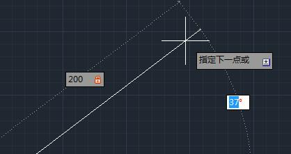 怎样利用浩辰CAD画一条带角度的直线?