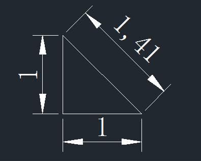 CAD中绘制带根号的直线的方法