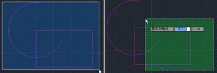 CAD框选方式的不同