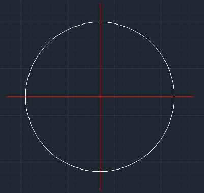 浩辰CAD中快速绘制圆中心线