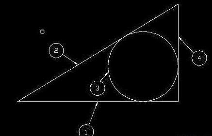 CAD画三角形内切圆的方法