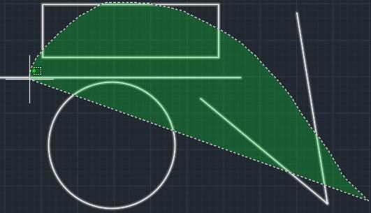 CAD矩形选择框的修改