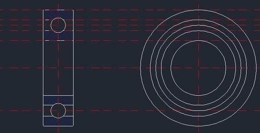 CAD球轴承的绘制
