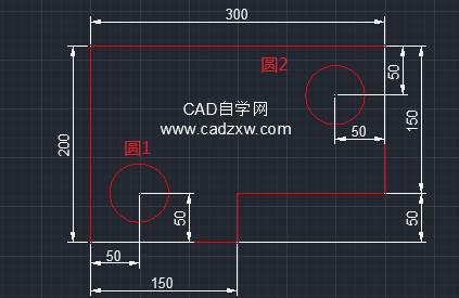 CAD绘制图形时定位基准点的使用