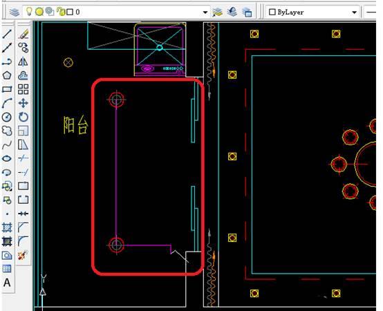 用CAD如何绘制客厅开关布置平面图