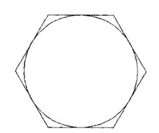 浩辰CAD机械_(28)螺母俯视图绘制