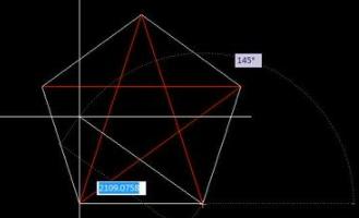如何绘制CAD二维和CAD三维的红五角星