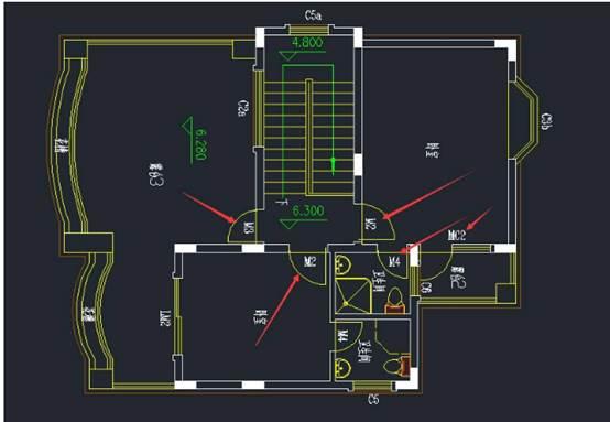 使用CAD如何创建动态建筑门图块