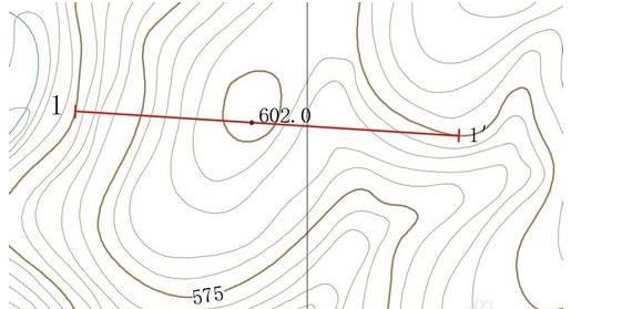 CAD绘制地形图教程之如何在CAD如何手动绘制地形图剖面