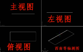 CAD画三视图的方法