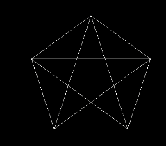 CAD画五角星的技巧