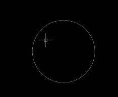CAD画圆内接正方形的方法