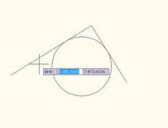 CAD画圆相切
