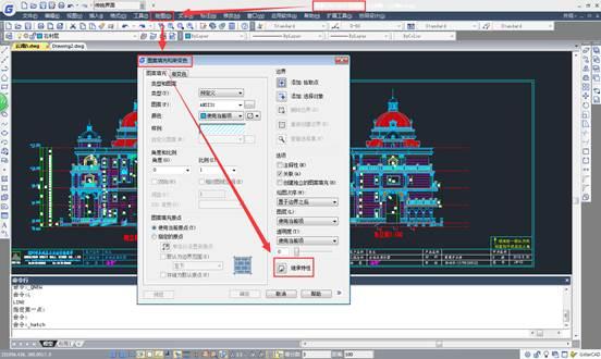 CAD填充图案教程之在CAD中获取图中已有的填充图案及比例