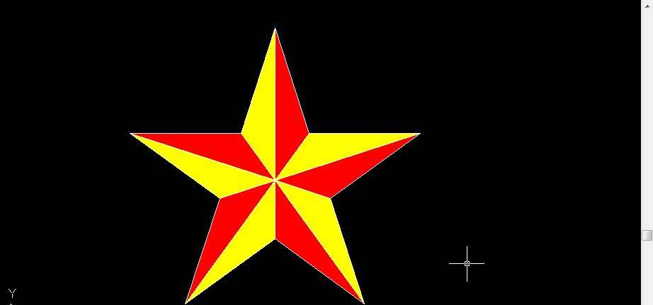 CAD画五角星的教程