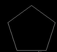 CAD画圆的内接正五边形