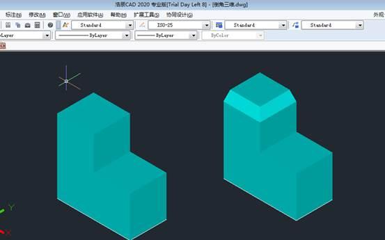 CAD倒角和倒圆角三维图形具体使用