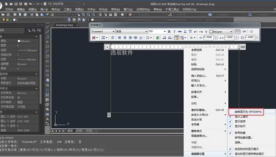 CAD多行文字中的WYSIWYG介绍