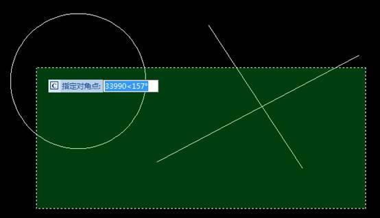 CAD框选方式之间的不同