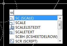 CAD参照缩放的方法