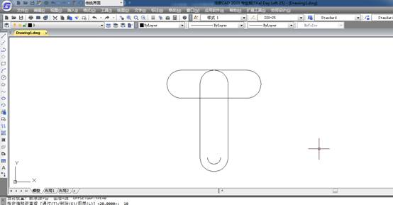 CAD绘制:CAD洗面盆画法