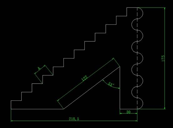 CAD计算面积之画图图形并求出面积和长度