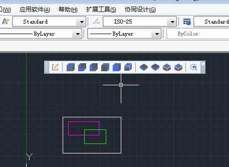 CAD图层的视口里面特性进行临时替代