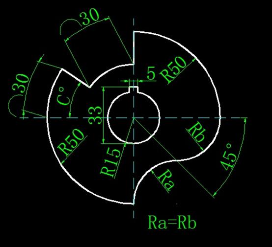 画图并求出CAD角度和半径