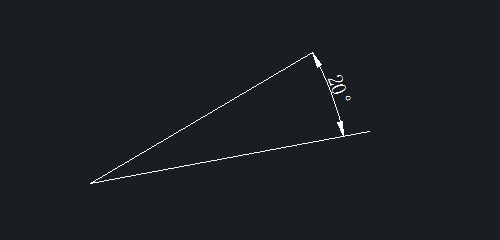 CAD角度标注如何把标注放在角外边