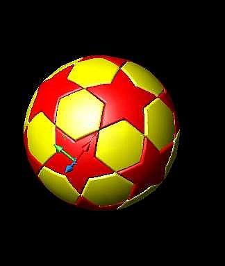 CAD三维建模教程-五星足球